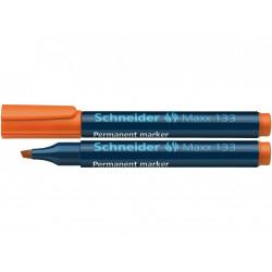 Marker Permanent Schneider Maxx 133, 1 - 5 mm Varf Tesit - Portocaliu