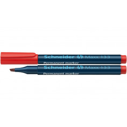 Marker Permanent Schneider Maxx 133, 1 - 5 mm Varf Tesit - Rosu