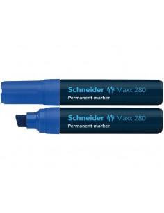 Marker Permanent Schneider Maxx 280 , 4 - 12 mm Varf Tesit - Albastru