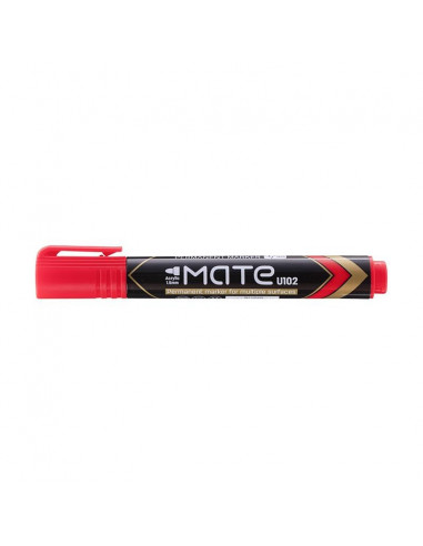 Marker Permanent Deli Varf Rotund 1.5 mm Mate, rosu
