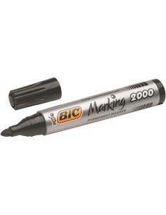 Marker permanent BIC 2000, negru+ albastru, 2 buc