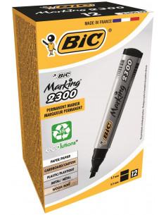 Marker permanent BIC 2300, negru, 12 buc/cutie