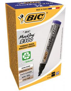 Marker permanent BIC 2300, albastru, 12 buc/cutie