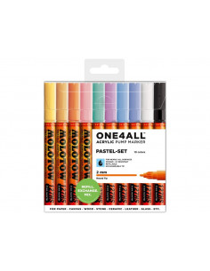Set Markere Molotow ONE4ALL 127HS Pastel-Set, 10 buc