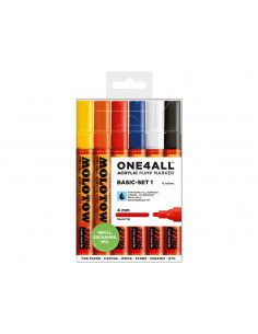 Set Markere Molotow ONE4ALL 227HS Basic-Set 1, 6 buc