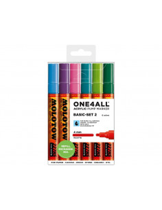 Set Markere Molotow ONE4ALL 227HS Basic-Set 2, 6 buc