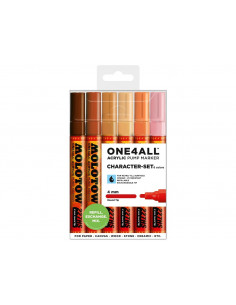 Set Markere Molotow ONE4ALL 227HS Character-Set, 6 buc
