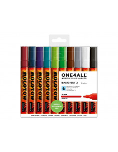 Set Markere Molotow ONE4ALL 227HS Basic-Set 2, 10 buc