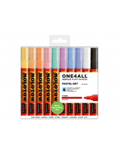 Set Markere Molotow ONE4ALL 227HS Pastel-Set, 10 buc