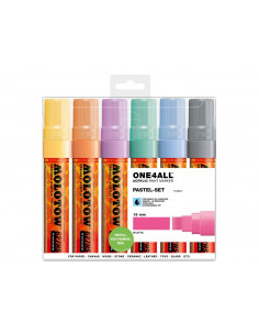 Set Markere Molotow ONE4ALL 627HS Pastel-Set, 6 buc