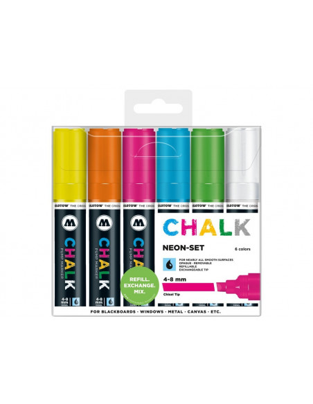 Set Molotow Chalk Marker Neon-Set, 4-8 mm, 6 buc