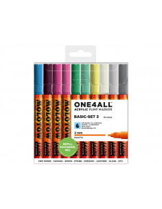 Set Markere Molotow ONE4ALL 127HS Basic-Set 3, 10 buc