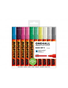 Set Molotow ONE4ALL 227HS Basic-Set 3, 10 buc