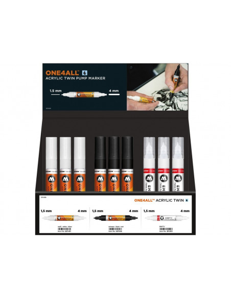 Set Molotow One4All Acrylic Twin Display, 36 buc