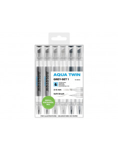 Set Markere Molotow AQUA TWIN Grey-Set 1