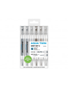 Set Markere Molotow AQUA TWIN Grey-Set 2