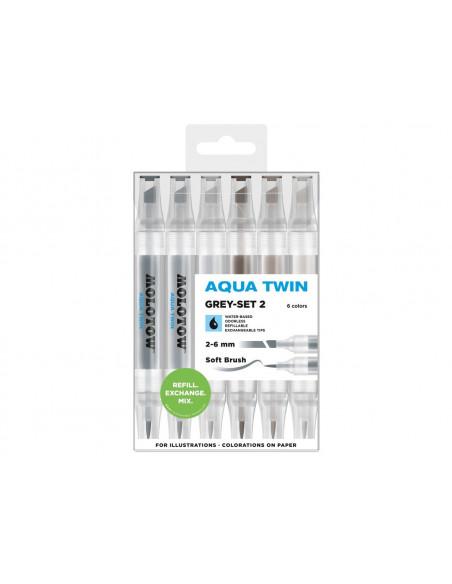 Set Markere Molotow AQUA TWIN Grey-Set 2
