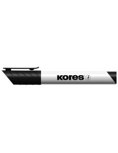 Marker Whiteboard Kores 3 mm Varf Rotund - Negru