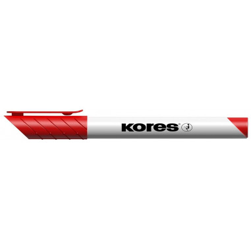 Marker Whiteboard Kores 3 mm Varf Rotund - Rosu