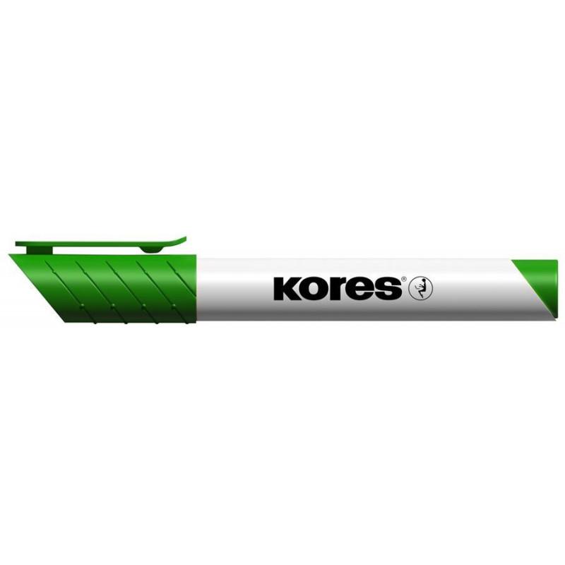 Marker Whiteboard Kores 3 mm Varf Rotund - Verde