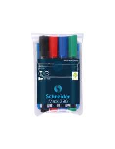 Marker Whiteboard Schneider Maxx 290 2 - 3 mm Varf Rotund - Set