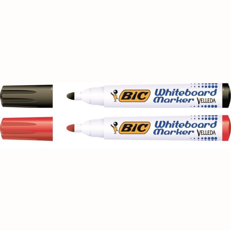 Marker Whiteboard Bic 2 - 4 mm Varf Rotund - Rosu
