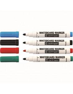 Marker Whiteboard Centropen 8559 2.5 mm Varf Rotund - Albastru