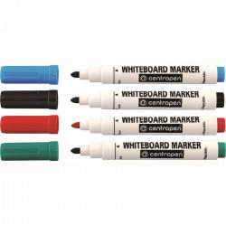 Marker Whiteboard Centropen 8559 2.5 mm Varf Rotund - Set 4 Culori