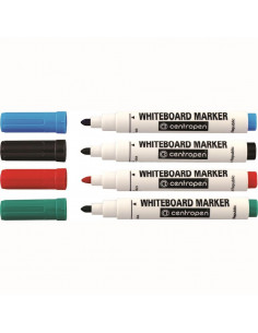 Marker Whiteboard Centropen 8559 2.5 mm Varf Rotund - Set 4