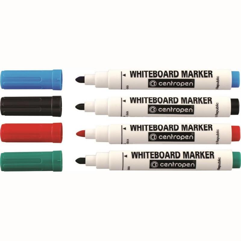 Marker Whiteboard Centropen 8559 2.5 mm Varf Rotund - Set 4