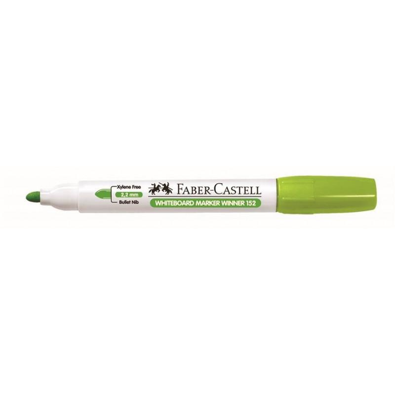 Marker Whiteboard Faber-Castell 152 2.2 mm Varf Rotund - Vernil