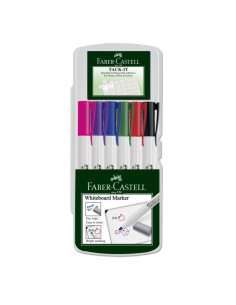Marker Whiteboard Faber-Castell 1560 2 mm Varf Rotund - Set 6