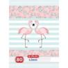 Caiet Herlitz A4 80F Dictando Flamingo