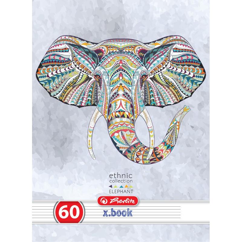 Caiet Herlitz A4 60 File Dictando Ethnic Animals