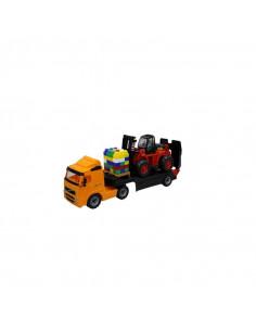 Trailer+stivuitor+palet cuburi - Volvo PowerTruck, 89x19x25 cm