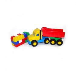Camion + cuburi/17 piese - Favorite, 29x10x14 cm, Polesie
