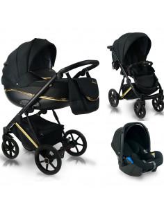 Carucior copii 3 in 1, reversibil, 0-36 luni, Bexa Next Gold