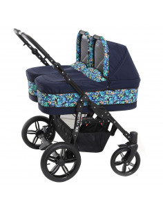 Carucior copii gemeni side by side 2 in 1, PJ STROLLER, Lovely