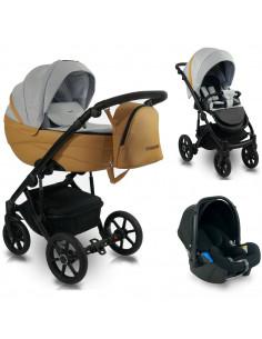 Carucior copii 3 in 1, reversibil, 0-36 luni, Bexa Ideal 2020