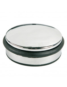 Opritor metalic, pentru usa, rotund, cu inel de cauciuc, ALCO
