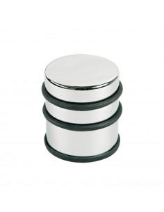 Opritor metalic inalt, pentru usa, rotund, cu inel de cauciuc