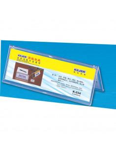 Display nume pentru birou, din plastic, forma A, 85 x 250mm
