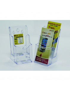 Display plastic pentru brosuri, de birou/perete, 2 x 1/3A4