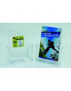 Display plastic pentru brosuri, de birou/perete, 1 x A5, KEJEA