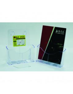 Display plastic pentru brosuri, de birou/perete, 1 x