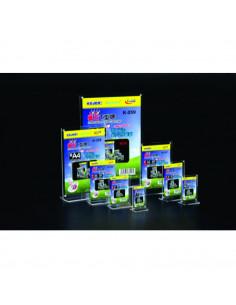 Display plastic cu magneti, pentru pliante, forma T