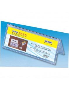 Display nume pentru birou, din plastic, forma A, 75 x 210mm