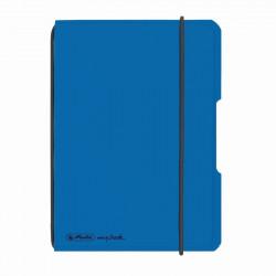 Caiet Herlitz My.Book Flex A6 40F Patratele Albastru Deschis Transparent Cu Logo Negru