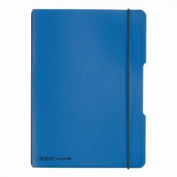 Caiet Herlitz My.Book Flex A5 40F Patratele Albastru Deschis Transparent Cu Logo Negru