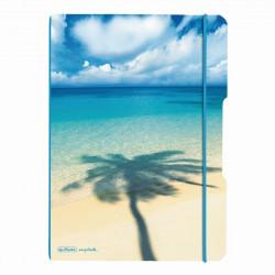 Caiet Herlitz My.Book Flex A4 2X40F Dictando+Patratele Palmier Cu Logo Albastru